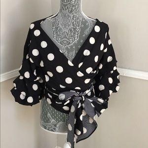 Fashion Nova polka dot top